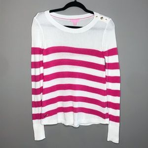 Lilly Pulitzer Flagler Pink Striped Sweater sz XS